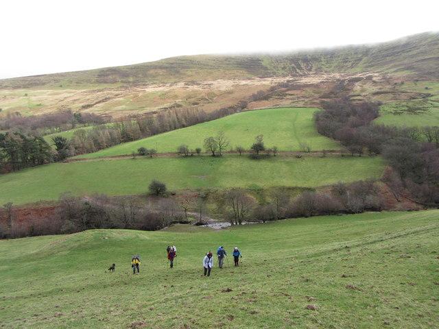 View across Glyn Tarrell