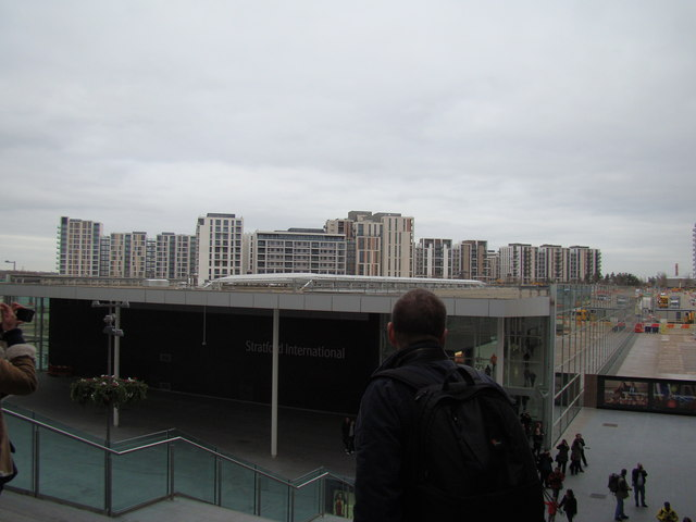 View of Stratford New Town from the rear steps into Westfield