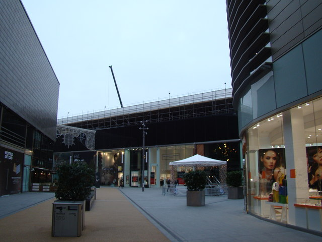 View of the central plaza in Westfield Shopping Centre
