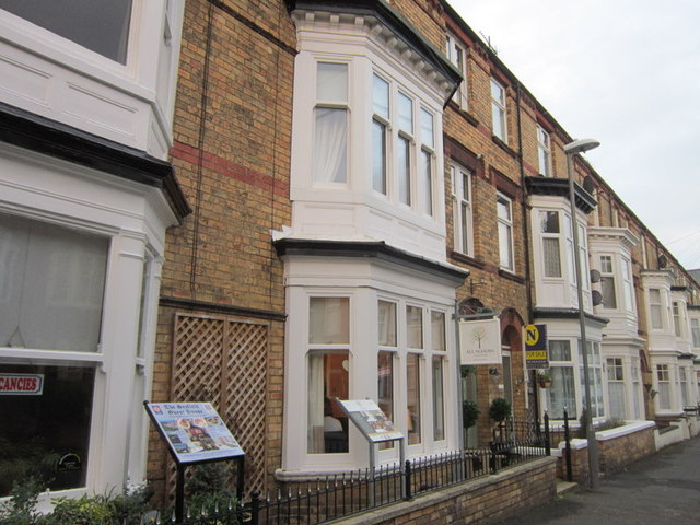 The All Seasons guest house on Rutland Street, Filey