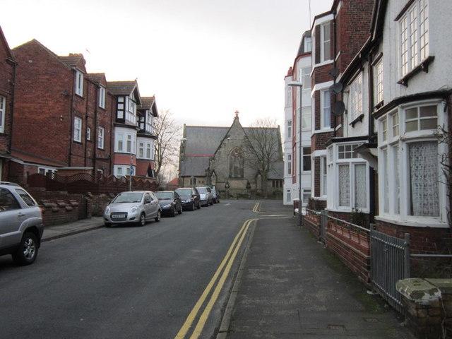 Looking along Rutland Street towards St John's