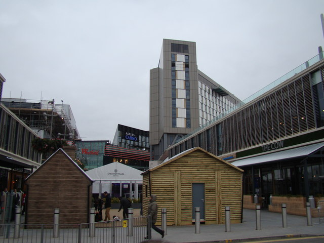 View of Westfield and Asper's Casino from Westfield Way