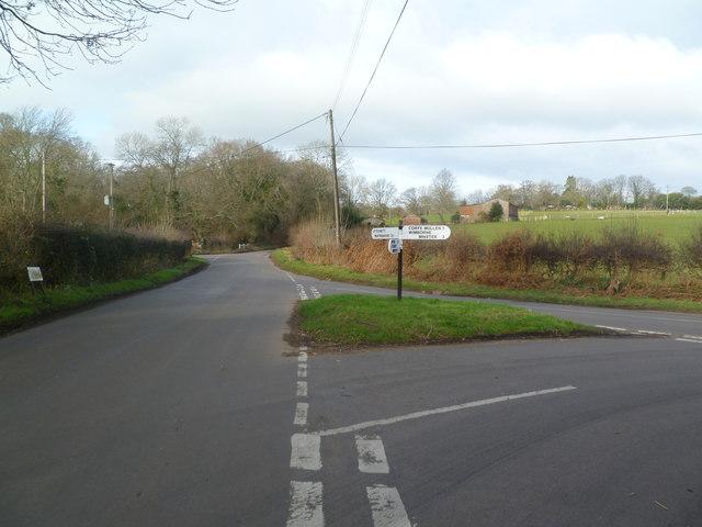 Corfe Mullen, road junction