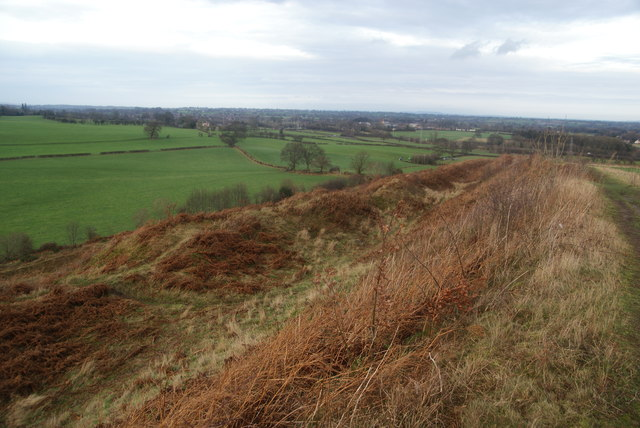 Towards the north end of Old Oswestry hillfort