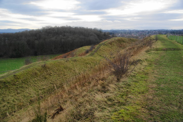 Ramparts on Old Oswestry Hillfort
