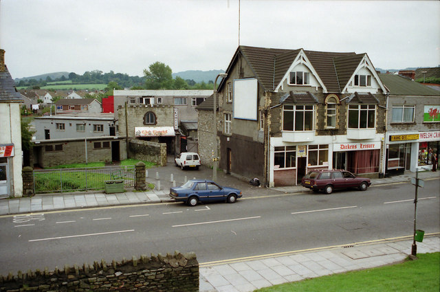 Camelot Club Old Caerphilly Town Centre in 1989