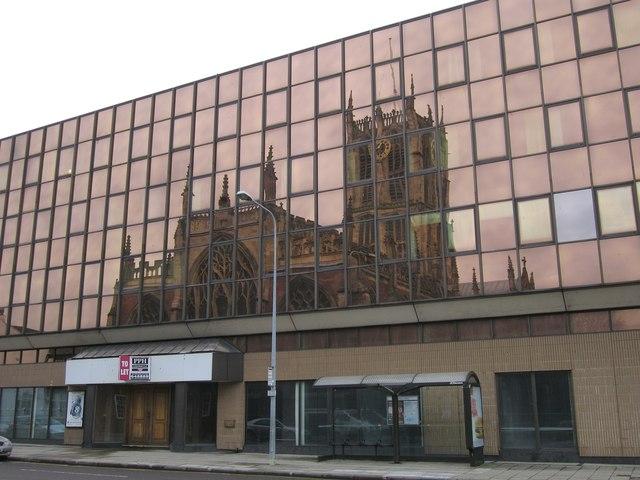 Holy Trinity Church reflected