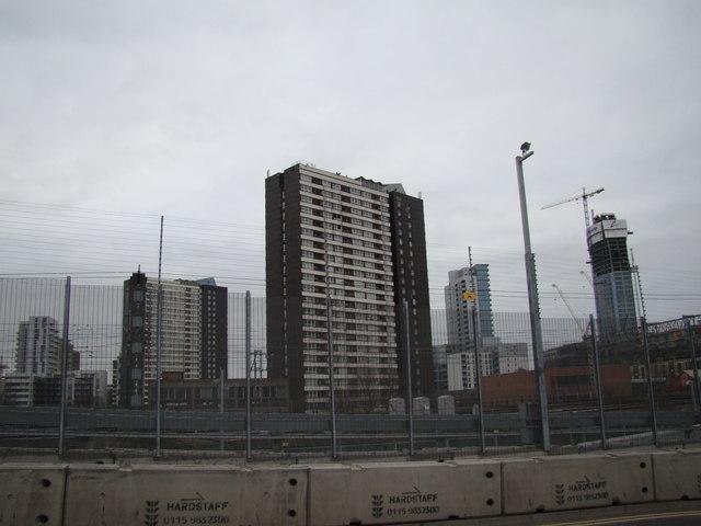 View of towerblocks in Stratford, viewed from Westfield Way #2