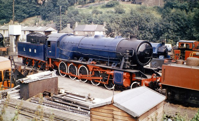 Ex-WD 2-10-0 at Severn Valley Railway Depot, Bridgnorth