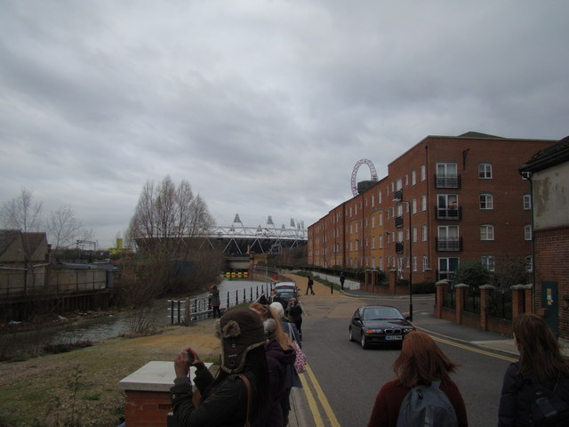 View of the Olympic Stadium from Blaker Road