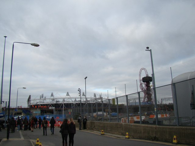 View of the Olympic Stadium from Marshgate Lane #2