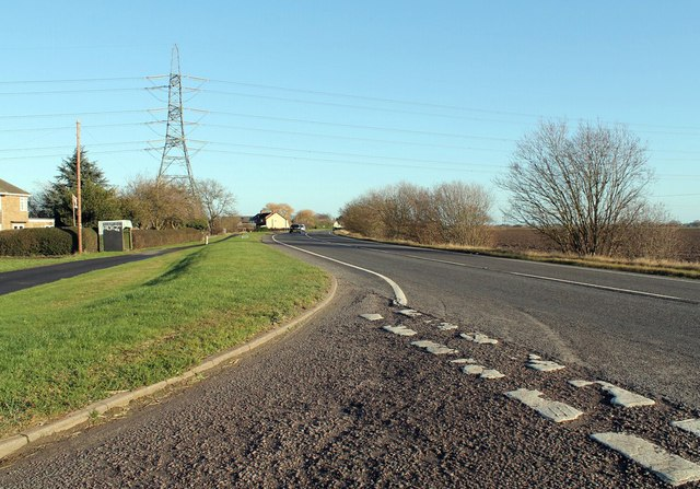Bicker Road (A52) from Junction with Day's Lane