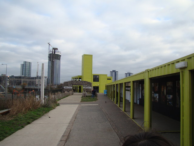 View of the Container Cafe from the Greenway