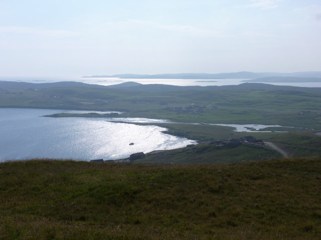 Whiteness: view over the head of Whiteness Voe and beyond