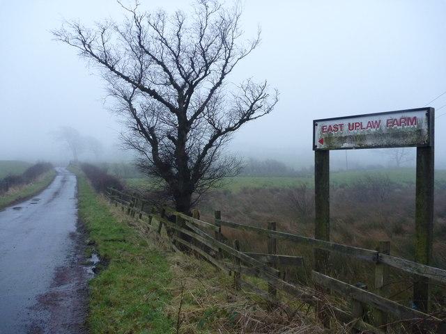 Rural East Renfrewshire : East Uplaw Road-end