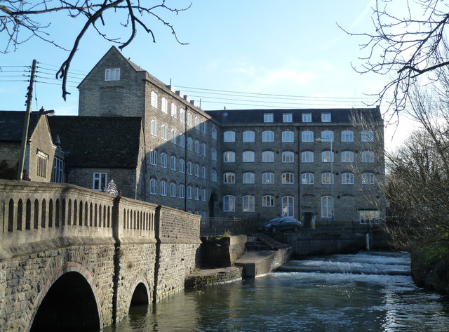 Avon Mills and St John's Bridge, Malmesbury