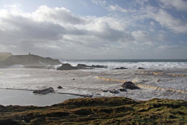 Rough sea at Bude