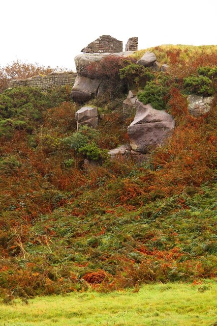 Rocky outcrop on Chapel Hill