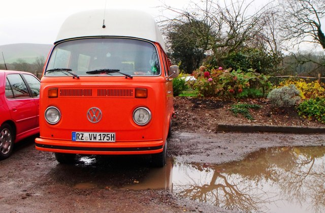 VW Camper, Middle Farm, Firle