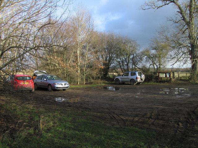 Carpark at Dolydd Hafren Nature Reserve