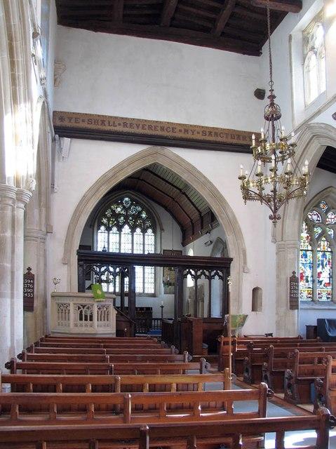 St Andrew, Shalford - Interior