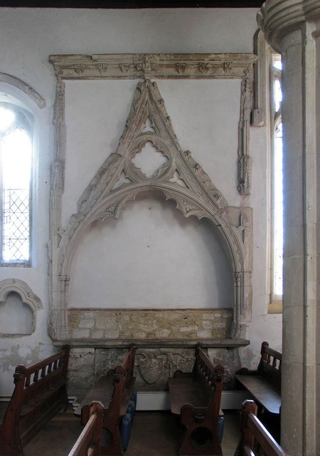 St Andrew, Shalford - Recessed tomb