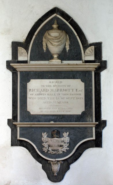 St Andrew, Shalford - Wall monument