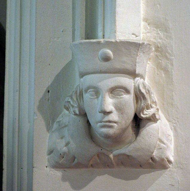 St James the Great, Great Saling - Label head