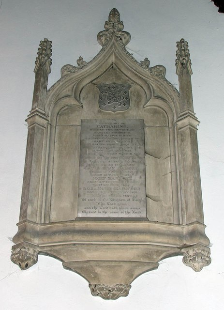 St James the Great, Great Saling - Wall monument