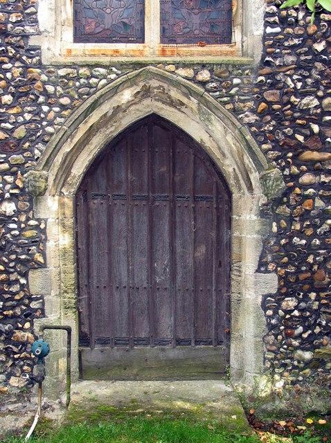 St Mary, Panfield - West door