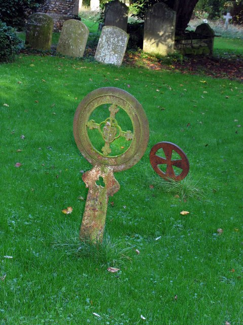St Mary, Panfield - Churchyard grave marker