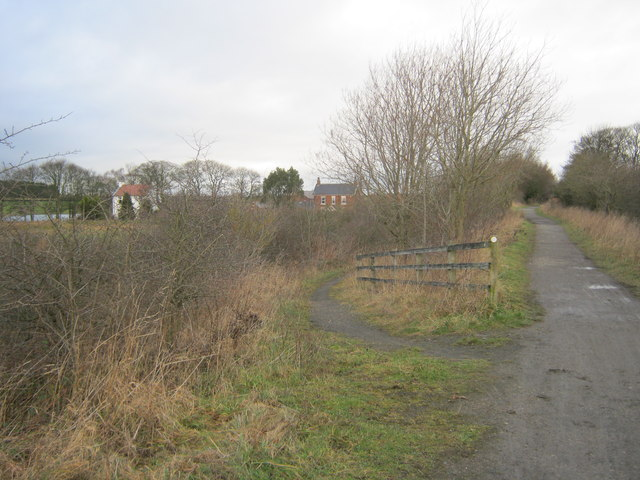 Multi use route off the Castle Eden Walkway to join Hurworth Burn Road
