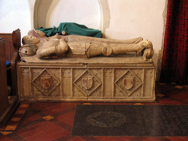 St Mary Magdalene & St Mary the Virgin, Wethersfield - Tomb chest
