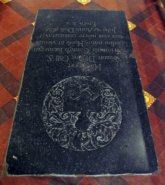 St Mary Magdalene & St Mary the Virgin, Wethersfield - Ledger slab