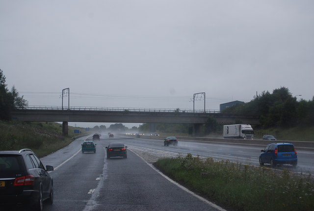 Joining the M6 northbound, Junction 40