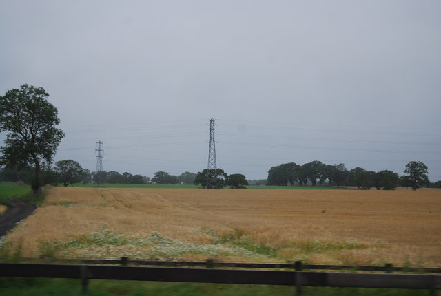 Wheat field by the M6