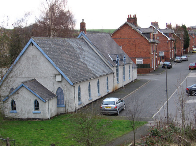 Hilcote - B Winning Methodist Chapel and New Street