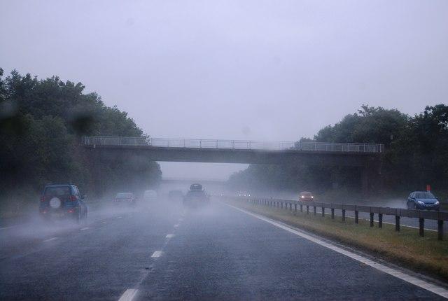 A wet day at Robinson House Bridge, M6