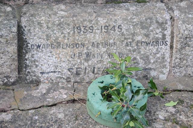 Names on a War Memorial