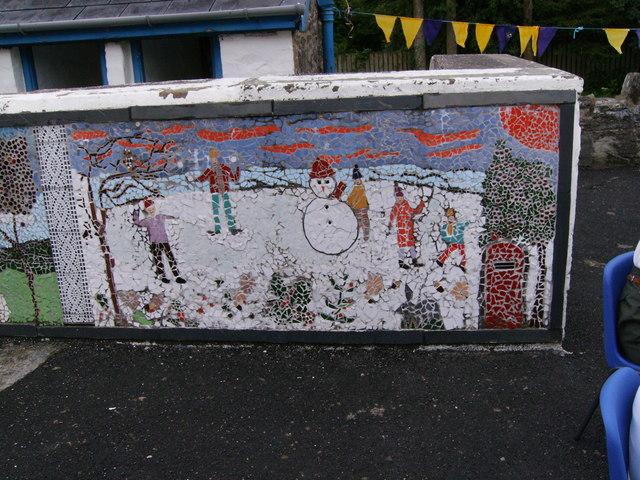 Last day of Glandwr School, Mosaic in Playground