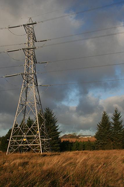 Pylon near Muldron Lodge