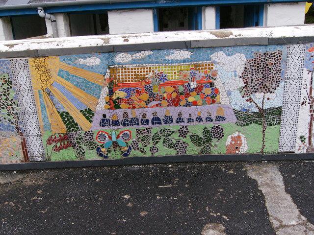 Mosaic in Playground Glandwr School