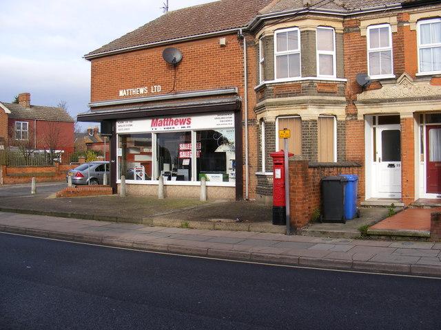 Matthews Ltd & Ruskin Road Edward VII Postbox