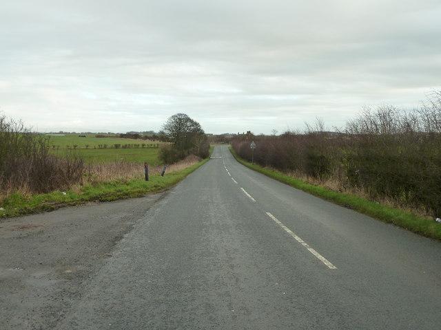 Mythop Road near Mythop Hall