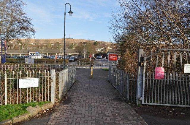 A footbridge near St. John's garden centre crossing Coney Gut