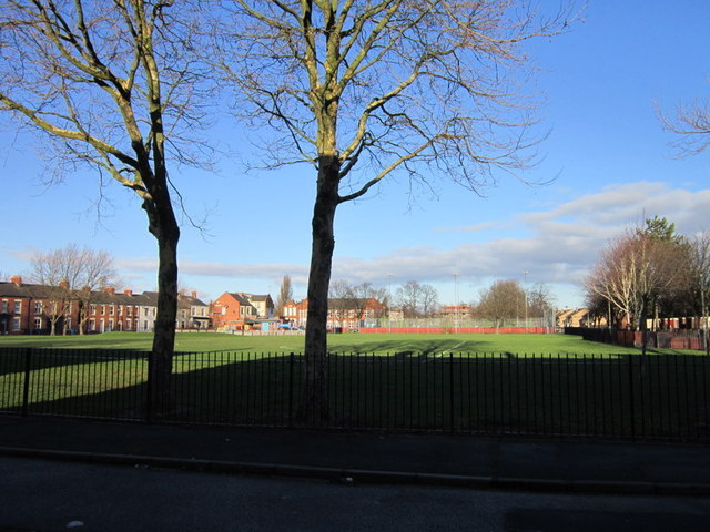 The playing field on Peel Street