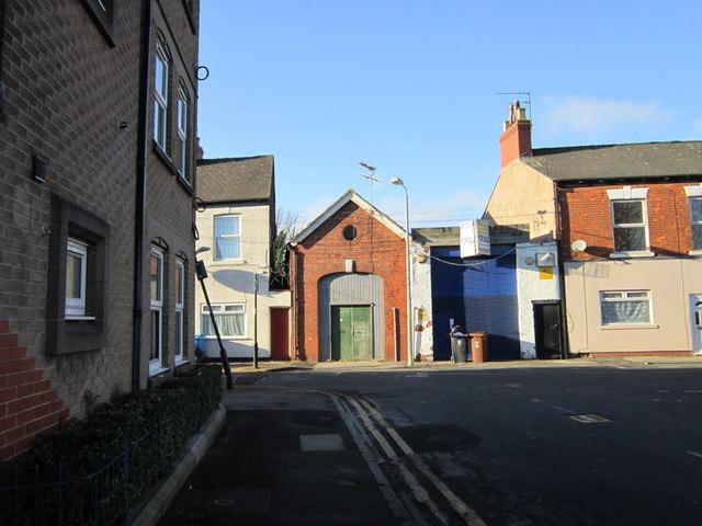 Leonard Street at Peel Street, Hull