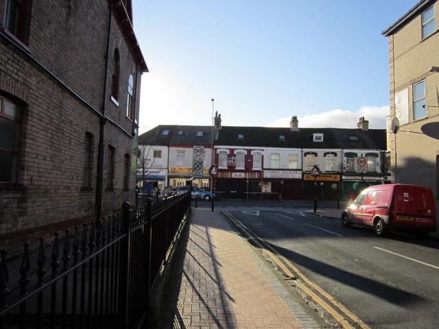 Peel Street at Spring Bank (road),  Hull