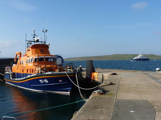 Lerwick: lifeboat and the Bressay ferry