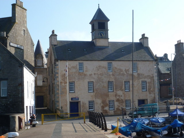 Lerwick: the Old Tolbooth from the seaward side